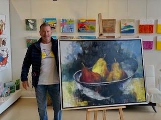 Pears 2019, Oil on Canvas, 48 x 36 x 2, 2019