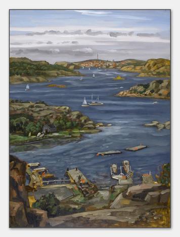 Kungshamn, Bohuslän, 2007, Öl auf Papier, 28c38 cm