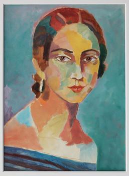 Clara Schuhmann (Auftrag),Öl auf Papier, 29 x 21 cm - sold.