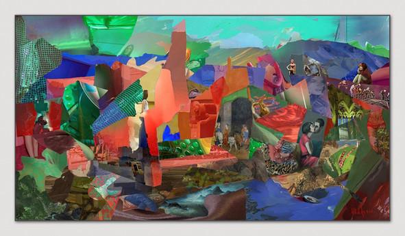 Der Kuss, 2014, Digital Malerei, Print Size, 33,5 x 66 cm