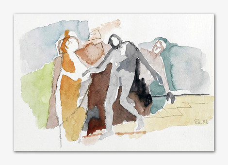 Figürlich, 2006, Aquarell, 16x24 cm