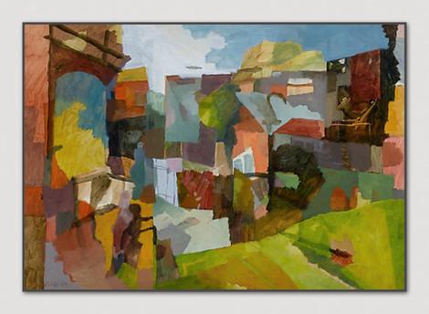Ohne Titel, 2005, Öl auf Papier, 42 x 59 cm - sold.