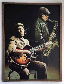 Wes Montgomery, 1977, Öl auf Leinwand, 105x75 cm