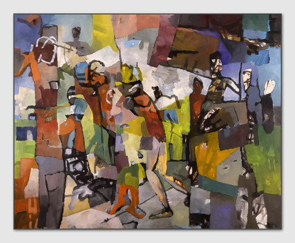 Entfesselt, 2008, Öl auf Leinwand, 145 x 180 cm - sold.