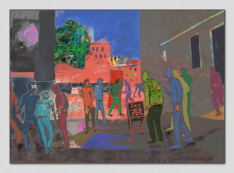 Schanzenfest, 2018, Digitalmalerei, Printsize 50 x 70 cm