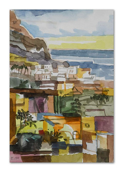La Calera, 2004, Aquarell, 16x24 cm