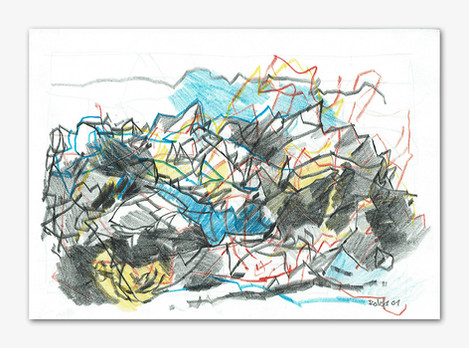 Valle Maira, 2001, Buntstiffte, 21x29 cm