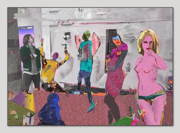 Vier Fragen an die Liebe, 2015, Digital Malerei, Print Size, 50 x 70 cm