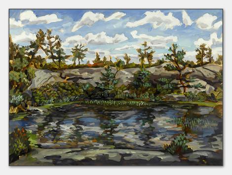 Felsen, Torgestad, 2007, Öl auf Papier, 28x38 cm