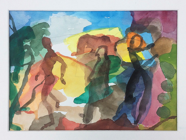 Figürlich, 2019, Aquarell, 23x31 cm