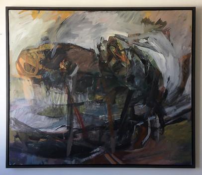 Die Vertreibung, 1996, Acryl auf Leinwand, 130 x 170 cm.