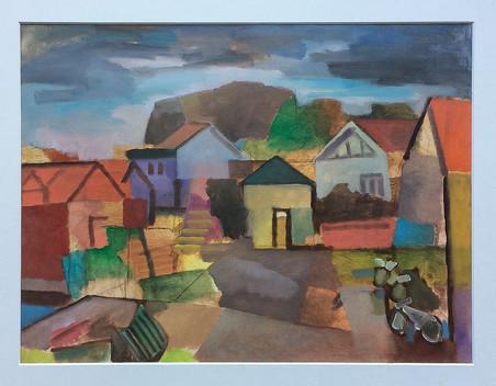 Hunnebostrand, 2018, Öl auf Papier, 30 x 40 cm