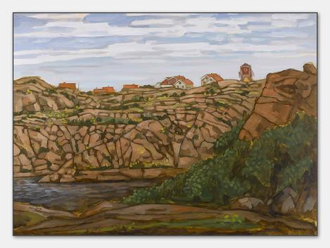 Smögen, Bohuslän, 2007 Öl auf Papier, 28x38 cm