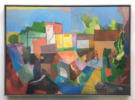 Erinnerung an Il Poggio (Ligurien), 2018, Öl auf Papier, 50 x 70cm
