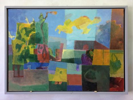 Landschaft, 2017, Öl auf Papier, 42x59 cm
