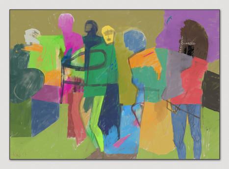 Figürlich, 2017, Digitalmalerei, Printsize, 50 x 70 cm