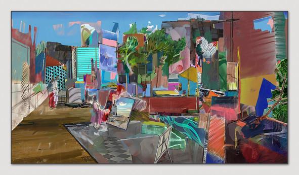 Studio, 2014, Digital Malerei, Print Size, 33,5 x 66 cm