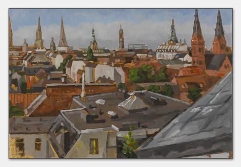 St Georg, Hamburg, 2008, Öl auf Papier, 28x38 cm