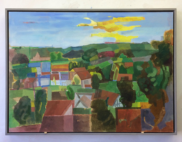 Tecklenburger Land, 2019, Öl auf Papier, 42x59 cm