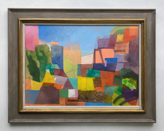 Landschaft, 2020, Öl auf Papier, 42x59 cm