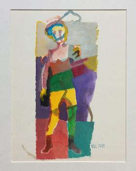 Figur, 2019, Öl auf Papier, 40x30cm