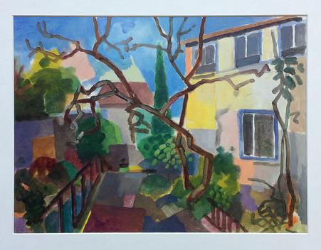 Treppenviertel Blankenese, 2021, Öl auf Papier, 30x40 cm