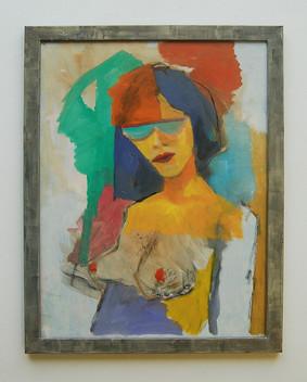 Heike, 2017, Öl auf Papier, 30 x 40 cm