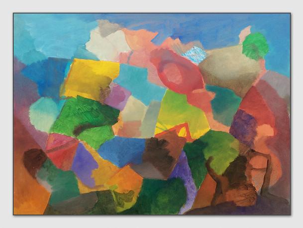 Turnaround, 2017, Öl auf Papier, 30 x 40 cm