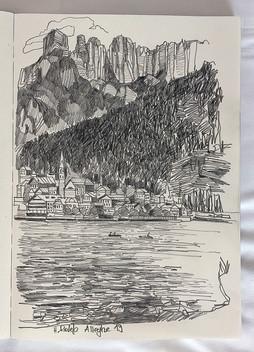 Alleghe, 2019, Skizzenbuch