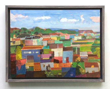 Aurure, 2018, Öl auf Papier, 30 x 40 cm