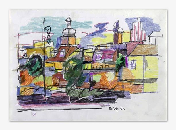 Warschau, 2003, Buntstiffte, 21x29 cm