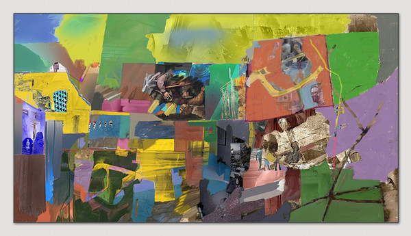 Ohne Titel, 2015, Digital Malerei, Printsize, 36 x 66 cm