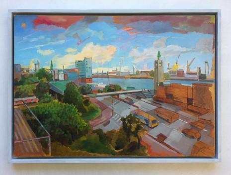 Hamburg Studie, 2017, Öl auf Papier, 42 x 59 cm