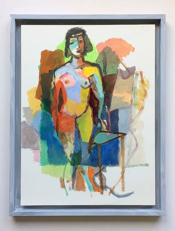 Figürliche Improvisation, 2019, Öl auf Papier, 40 x 30 cm