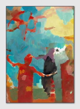 Komm her, 2013, Oel auf Papier, 29 x 21 cm