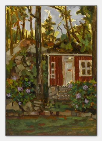 Betinas Schuppen, 2007, Öl auf Papier, 27x21 cm