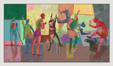 Wir wollen nicht dort hin, 2016, Digitalmalerei, Printsize 36 x 66 cm