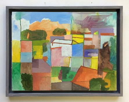 Odemira, 2018, Öl auf Papier, 30 x 40 cm