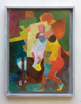 Just the two of us, 2019, Öl auf Papier, 40x30cm