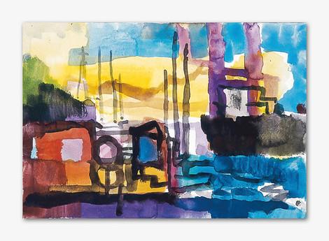 Scanraff, 2001, Aquarell, 16x24 cm