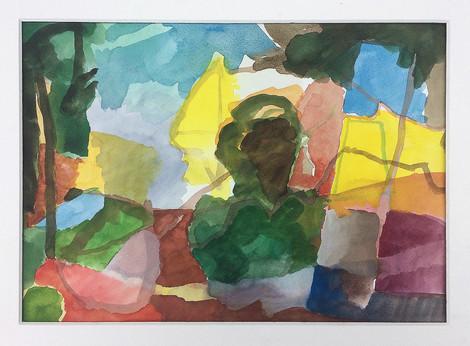 Landschaft, 2019, Aquarell, 23x31 cm