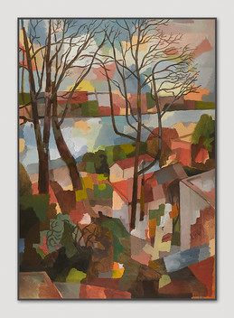 Övelgönne, 2005, Öl auf Papier, 100 x 70 cm - sold.