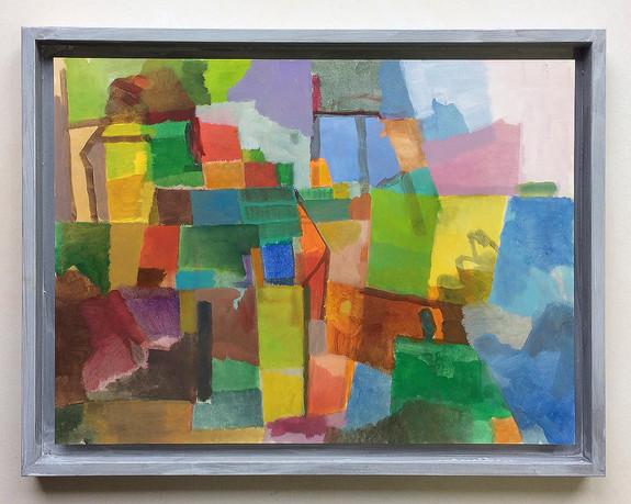 Klein Farbimprovisation, 2020, Öl af Papier, 30x40 cm
