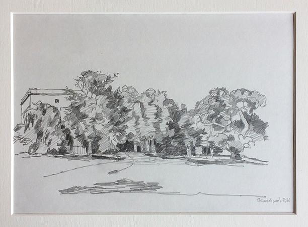 Jenisch Park, 2006, Bleistifft, 21x29 cm