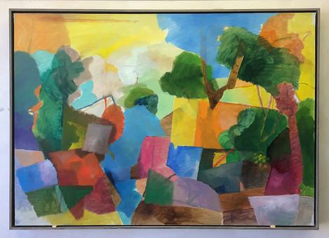 Landschaft,2019, Öl auf Papier, 50x70cm