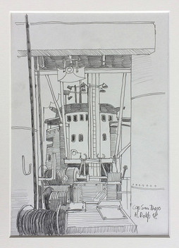 16_Cap San Diego, 2018, Bleistifft auf Papier, 21 x 29,7 cm