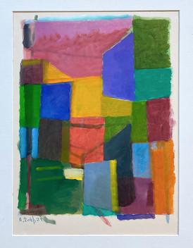Kleine Farbimprovisation, 2021, Öl auf Papier, 40x30 cm cm