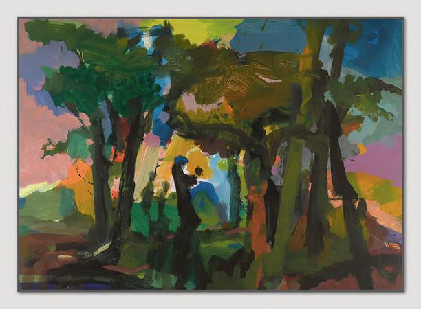 Arkadien,1996, Acryl auf Papier, 60 x 75 cm - sold.