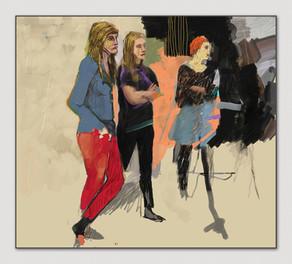 Kunststudentinnen, 2012, Digital Malerei