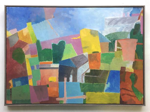 Landschaft, 2018, Öl auf Papier, 50 x 70 cm